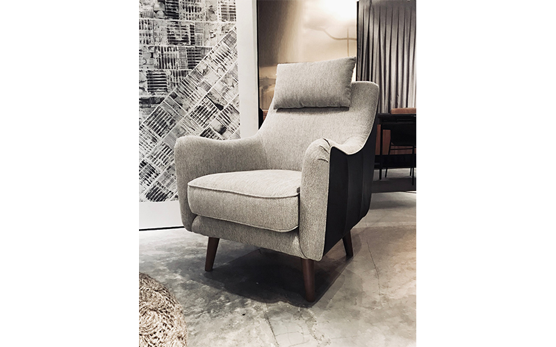 CELINE LOUNGE CHAIR IN GREY
