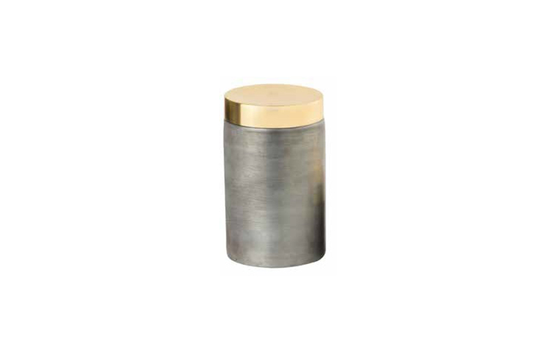 IRON BOX WITH BRASS LID - A