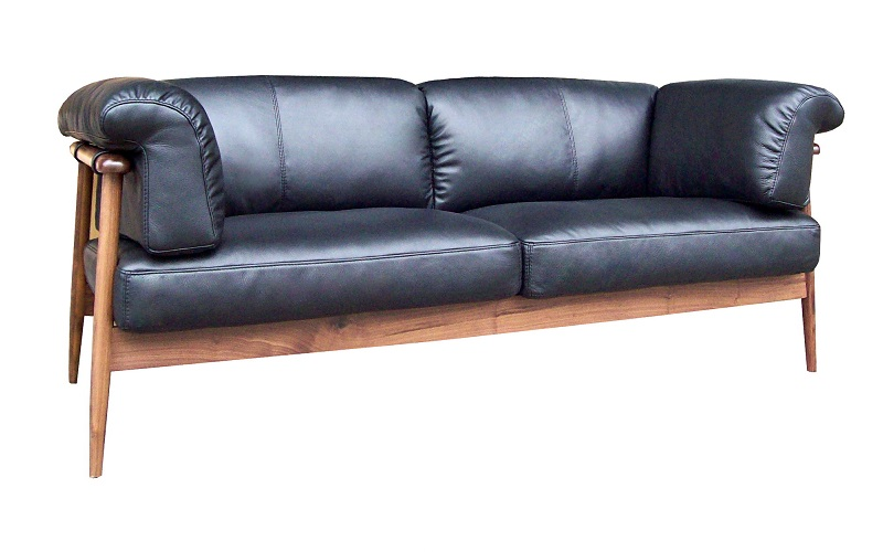 KARDELL 3-SEATER LEATHER SOFA