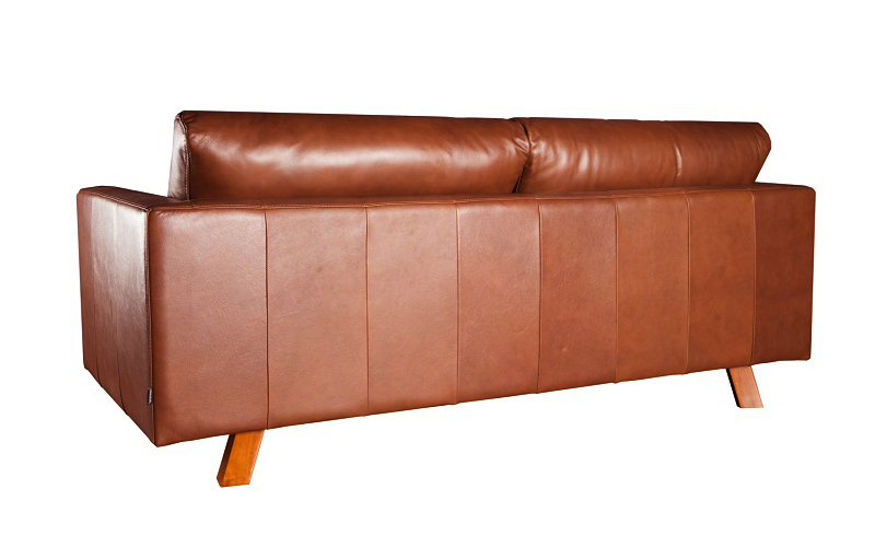 GEORMANI 3-SEATER LEATHER SOFA