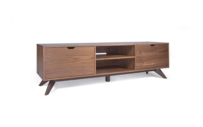 Danish Modern Tv Credenza : The stella j is a mid century modern tv console credenza with
